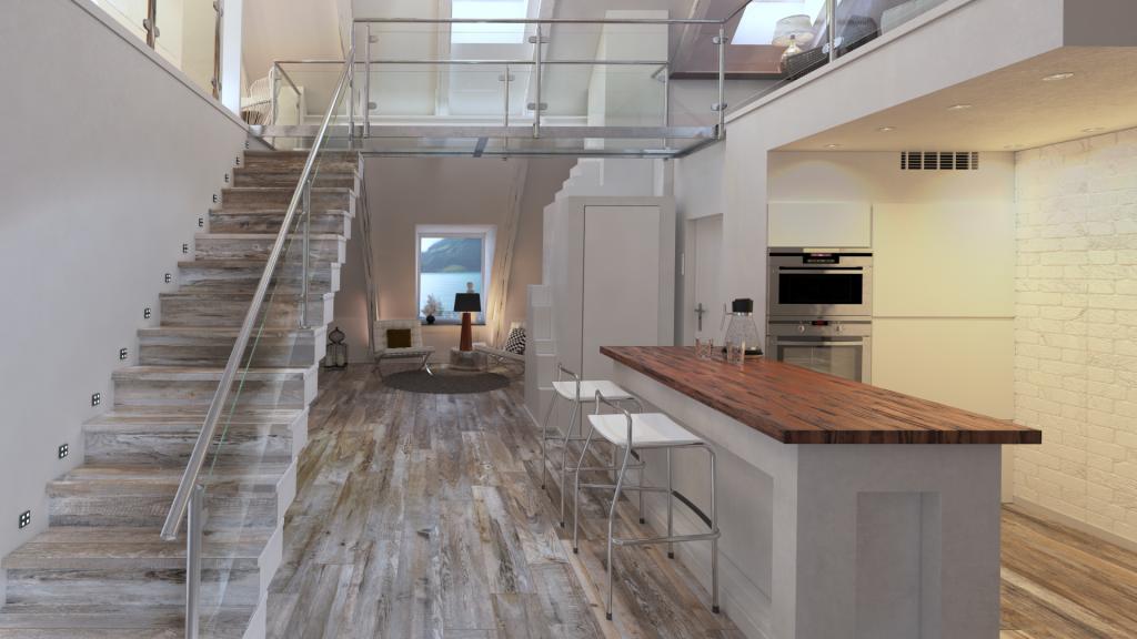 3D-визуализация интерьера жилой комнаты для ТМ Estima, общий вид © 3DADDY STUDIO