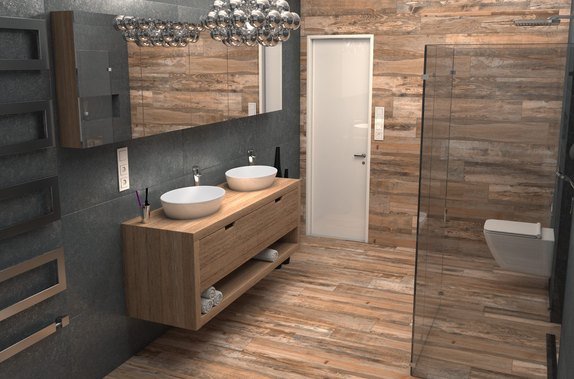 3D-визуализация интерьера ванной комнаты для ТМ Estima © 3DADDY STUDIO