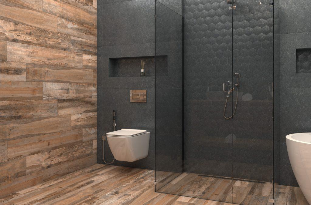 3D-визуализация плитки в ванной комнате для ТМ Estima, вид с угла, © 3DADDY STUDIO