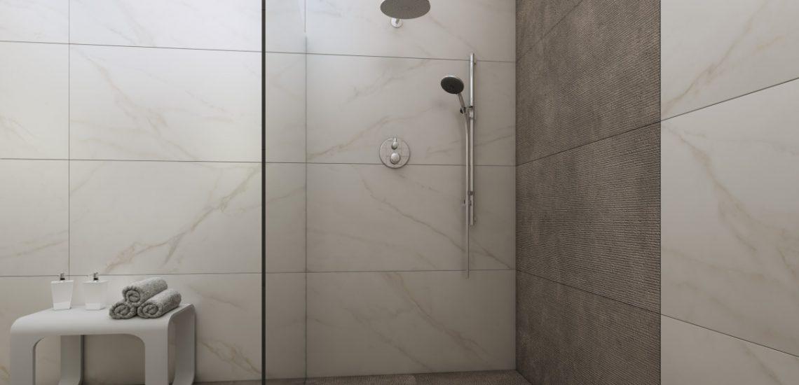 3D-визуализация плитки в ванной комнате для ТМ Estima, душевая, © 3DADDY STUDIO