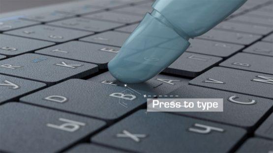 Изображение для видеопрезентации клавиатуры PRESTIGIO CLICK&TOUCH © 3DADDY STUDIO