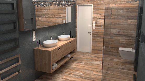 3D-визуализация плитки в ванной комнате для ТМ Estima, общий вид © 3DADDY STUDIO