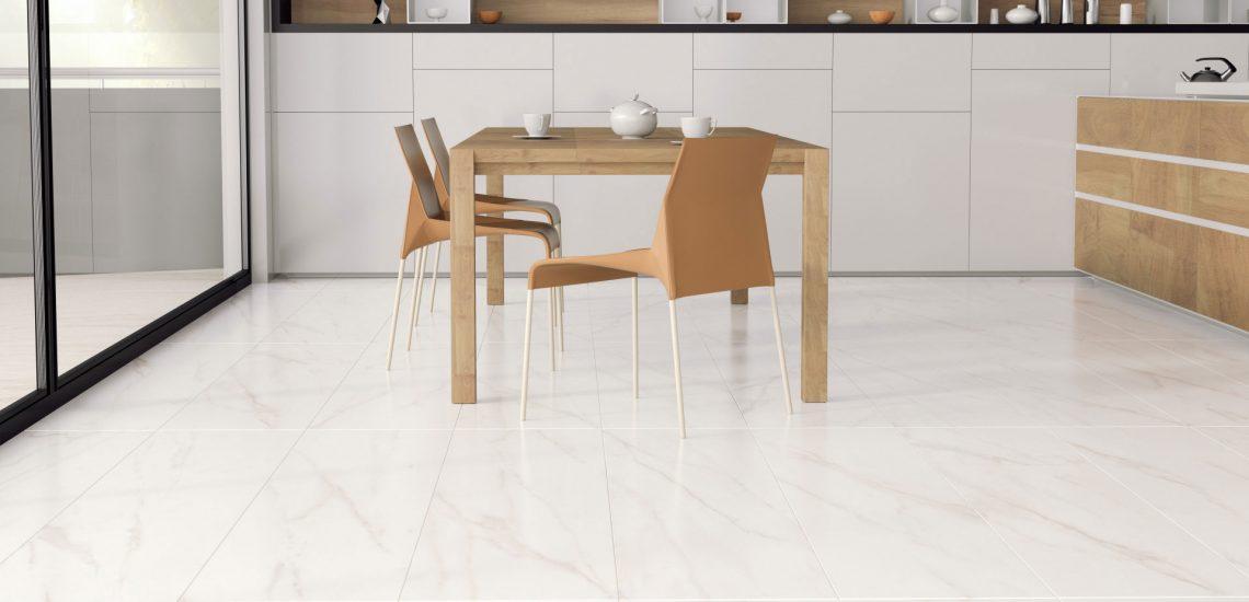 3D-визуализация коллекции IDEAL «Estima» для кухни-студии, обеденная зона © 3DADDY STUDIO