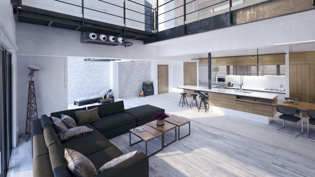 3D-визуализация интерьера для ТМ Estima, апартаменты © 3DADDY STUDIO